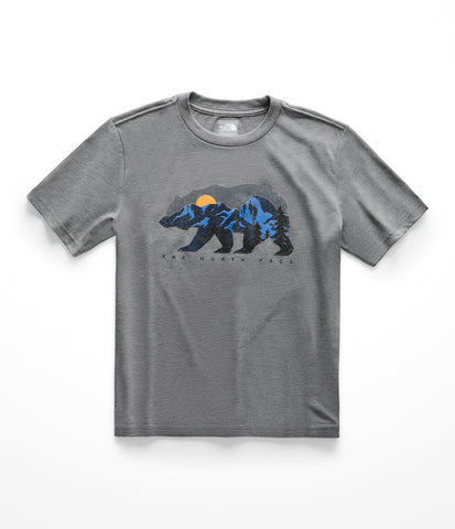 The North Face Short Sleeve Graphic Tee – Boys|NF0A3NMLGVD-YS|NF0A3NMLGVD-YM|NF0A3NMLGVD-YL|NF0A3NMLGVD-YXL