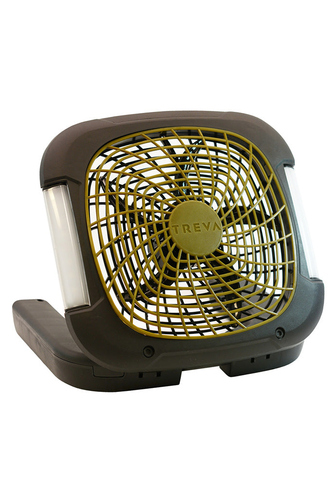 "TREVA 10"" Battery Powered Camping Fan with Lights"
