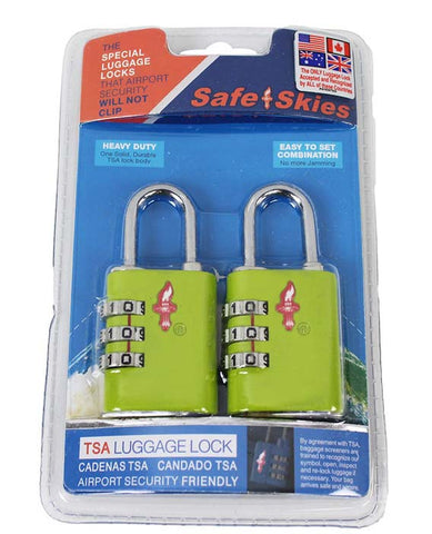 Safe Skies TSA Padlock/Keyed Lock Combo|10367