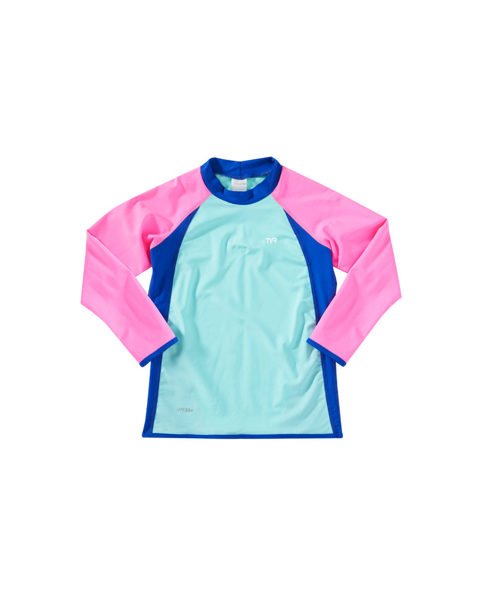 TYR Girls Splice Rashguard Top