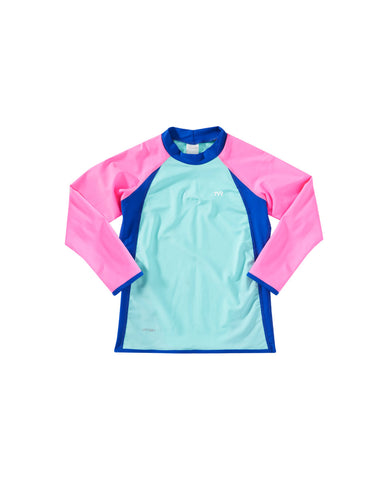 TYR Girls Splice Rashguard Top|770YS|770YM|770YL|770YXL