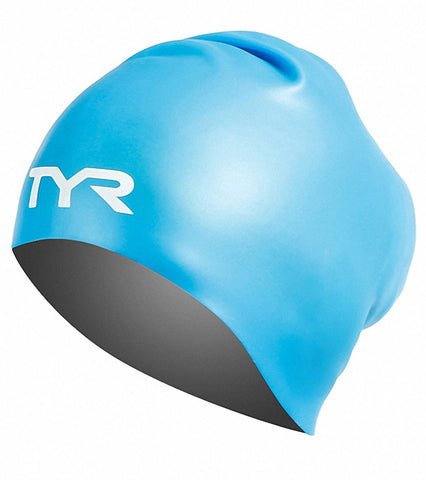 TYR Long Hair Silicone Adult Swim Cap|LCSL420