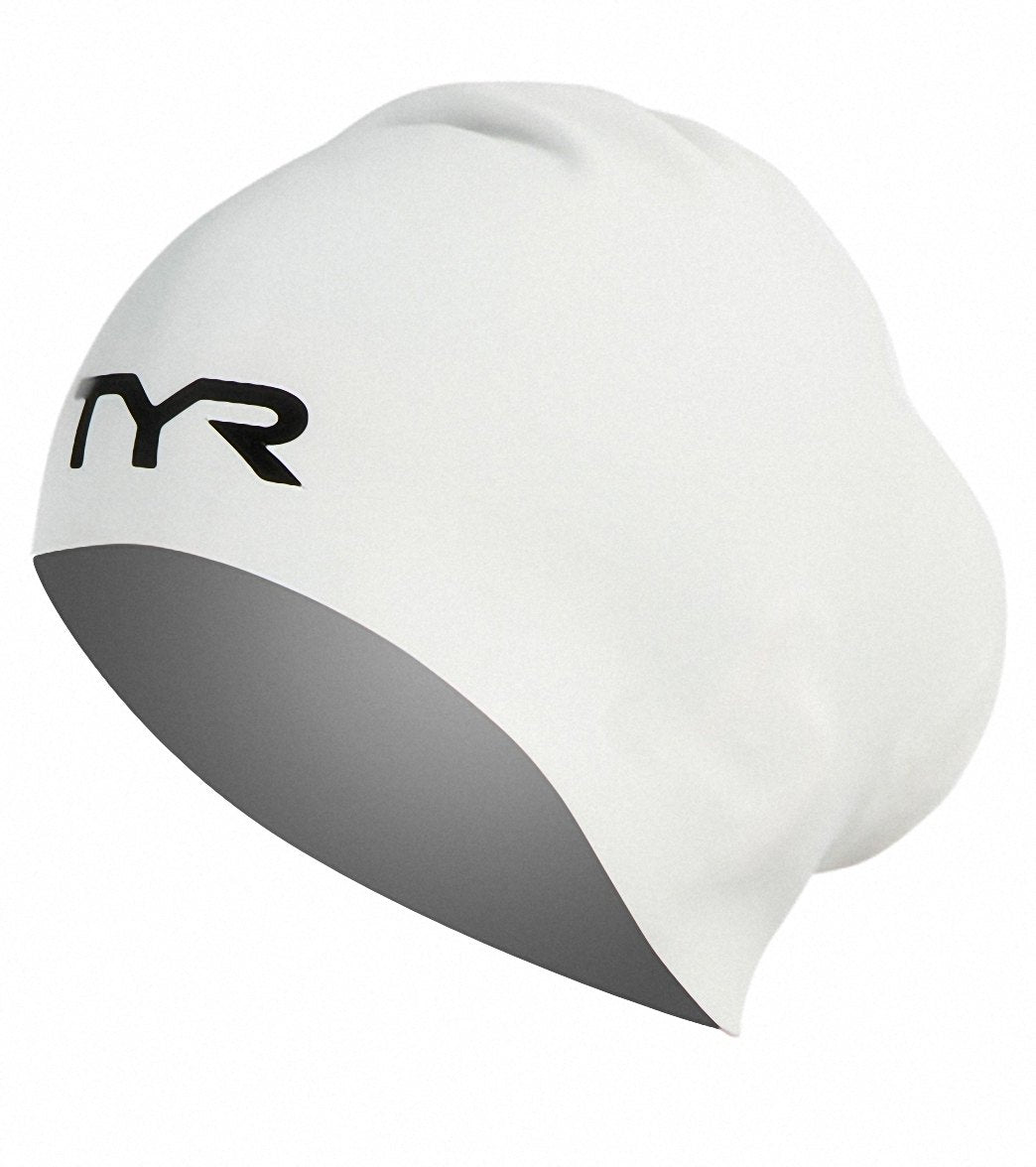TYR Long Hair Silicone Adult Swim Cap