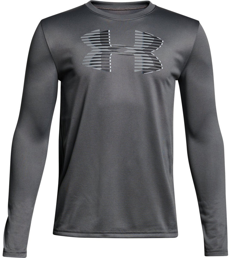 UA Boys Tech Big Logo Long Sleeve Tee