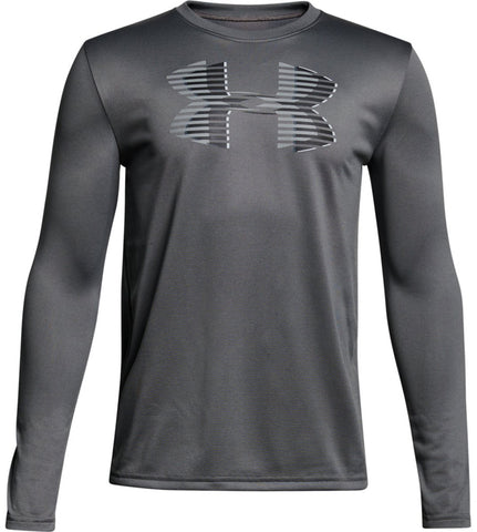 UA Boys Tech Big Logo Long Sleeve Tee|15264|15265|15266|15268