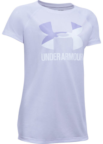 Under Armour Girls Solid Big Logo Tee|13253|13254|13255|13256