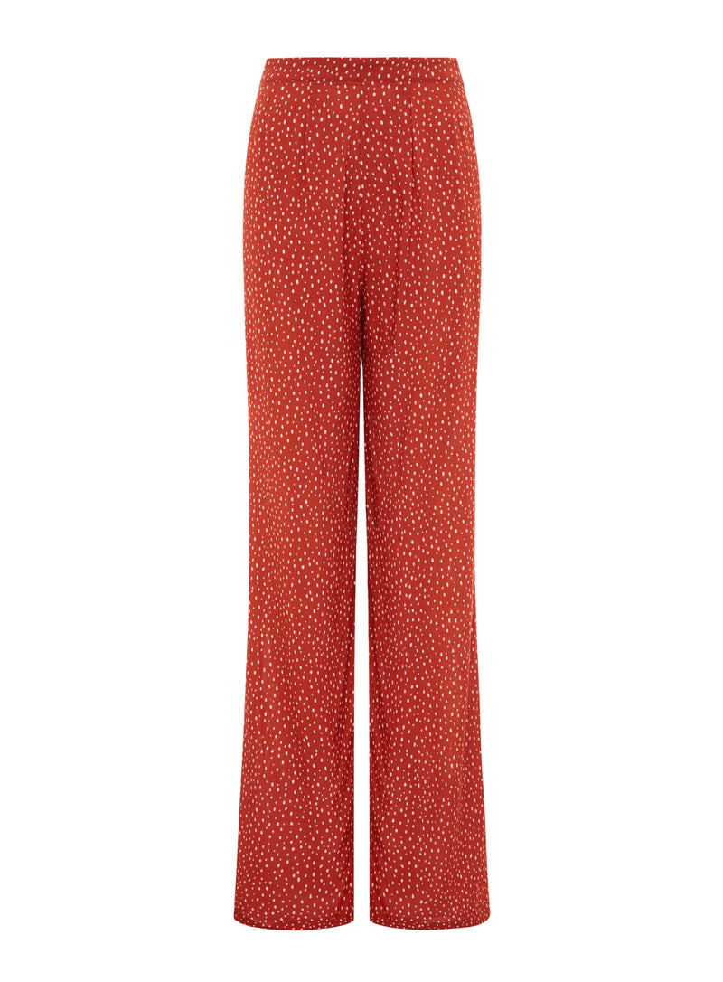 High waisted trousers, Pebble
