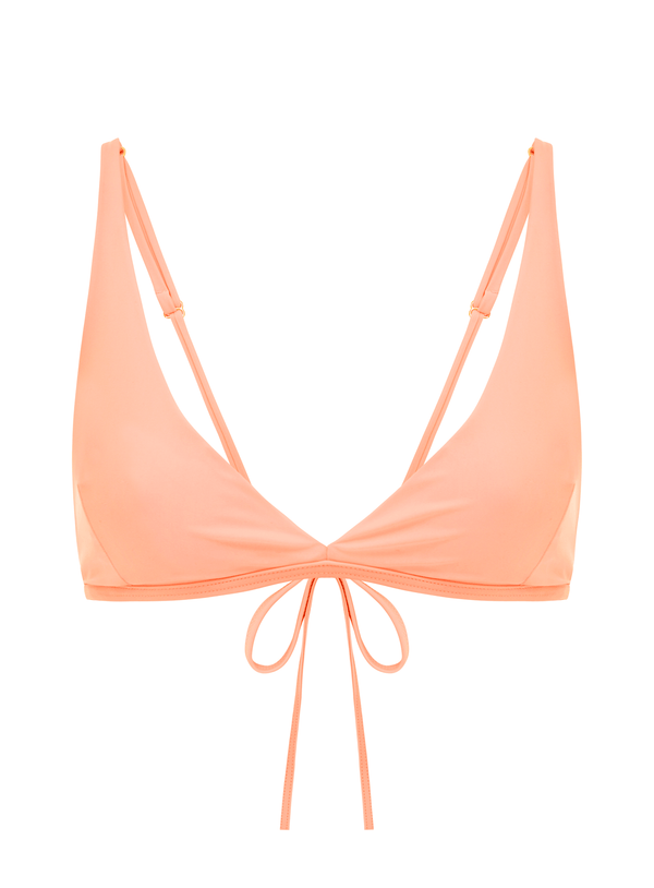 Triangle top in Peach