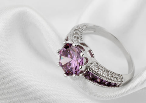 amethyst meaning, purple gemstones, gemstone meanings, amethyst engagement rings, shades of purple, gems and jewels, ame jewelry
