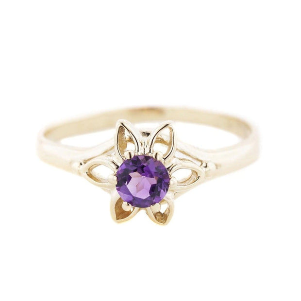 gems and jewels for less, jewelsforless, mothers day, flower ring, amethyst, february birthstone, 14K gold ring, designer, fine jewelry
