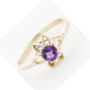 amethyst ring, amethyst flower ring, amethyst rings, purple gemstones, flower ring, february birthstone ring, gems and jewels