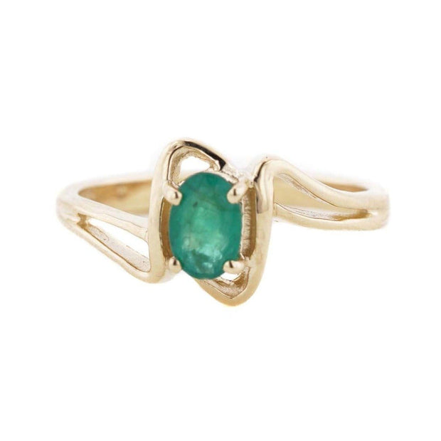 Emerald Twist -14K Yellow Gold