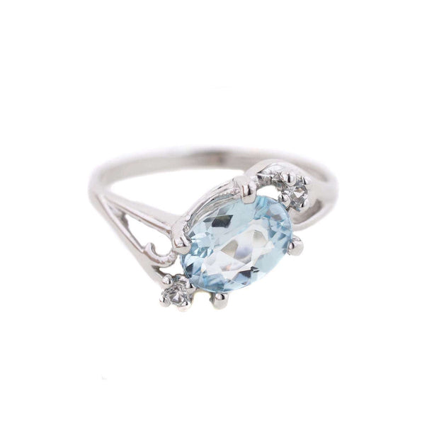 aquamarine engagement ring, etsy aquamarine ring, gems and jewels for less, jewelsforless, best price, march birthstone, fine jewelry, aquamarine, gemstone, white gold, 14k, twist, holidays, black friday, wholesale, designer, mothers day