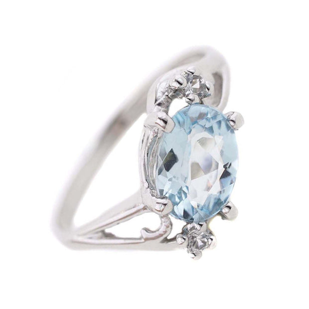 aquamarine engagement ring, etsy aquamarine ring, gems and jewels for less, jewelsforless, best price, march birthstone, fine jewelry, aquamarine, gemstone, white gold, 14k, engagement ring, etsy ring, wholesale, designer, mothers day