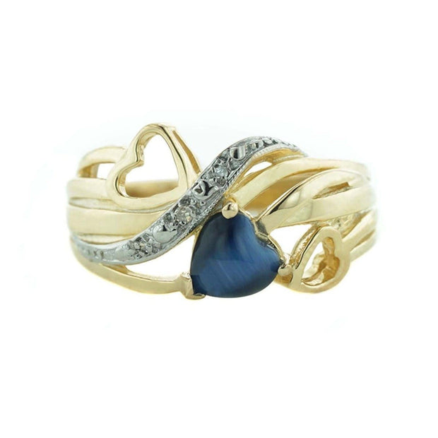 gems and jewels for less, jewelsforless, mothers day, sapphire, blue heart, cat's eye, double heart, heart of gold, blue and gold, quality gold, mummys god, pot of gold, sapphire, 14k women's ring, woman in gold, jewel, the gold gods, heavy stone rings diamond, white sapphire, sapphire, gift for mom