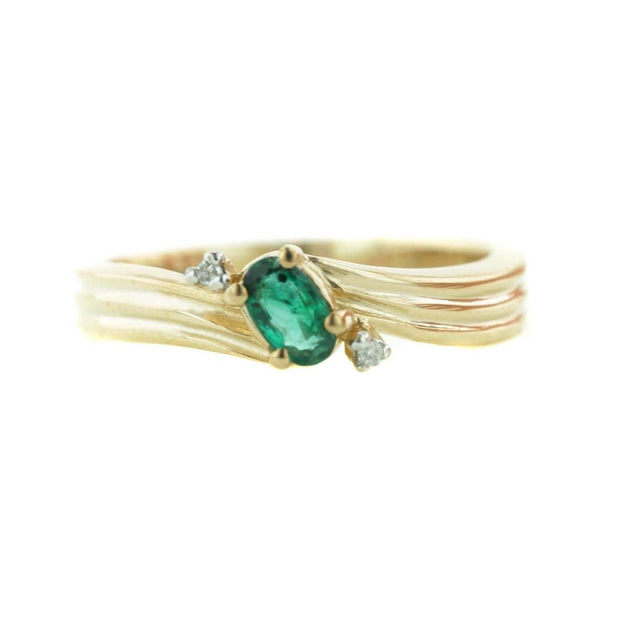 gems and jewels for less - emerald, emerald ring, women's emerald ring, fine jewelry, gold, band, emerald band, natural emerald, zales, kay, precious stone, heavy stone jewelry, designer jewelry, ring, rings women's ring, may birthstone, emerald wedding band