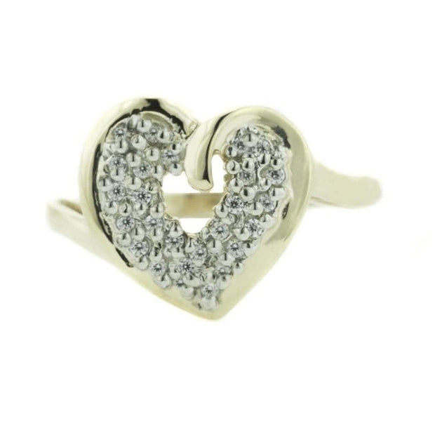 diamonds, synthetic diamonds, cz, cubic zirconia, cubic ring, april birthstone, heart ring, women's ring, women's heart ring, gems and jewels for less, gjfl, jewelsforless, 14k gold, gold ring, yellow gold ring, heart shaped ring