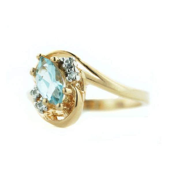jewels, blue jewels, blue gemstones, blue gems, blue topaz rings, blue topaz gem, blue topaz marquise ring, blue topaz gold ring, gjfl, gems and jewels for less,  blue stone