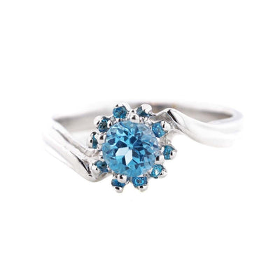 gems and jewels for less, mothers day, jewelsforless, december birthstone, blue topaz, white gold, white gold blue topaz ring, flower ring, women's ring, woman ring, white gold ring, best price, wholesale jewelry, mothers day, art jewelry, alternative engagement ring