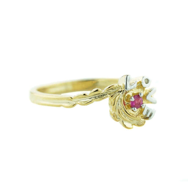 gems and jewels for less, love, love ring, 14k gold, 14k women's ring, ruby ring, july birthstone, ruby july birthstone, yellow gold ring woman ring, gift for mom, valentine's gift, best price, kiss me, smile on my face, precious stone, valuable ring, heart, mothers day