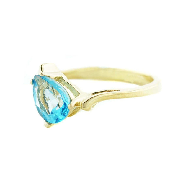 pear shape blue topaz ring, blue gold ring, blue topaz ring, blue stone ring, blue jewels, gems and jewels, blue gemstone ring