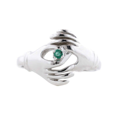gems and jewels for less, mothers day, hands, ring, emerald, emerald ring, green, peace, white gold ring, woman ring, 14K Gold, solid gold, real gold, best price, wholesale jewelry, discount ring, kay, zales, gift for mom, alternative engagement ring, art ring