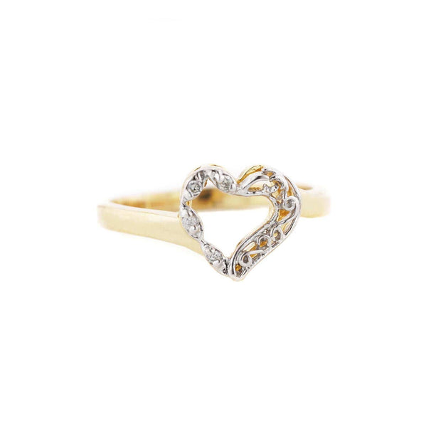 best price, Women's ring, diamond ring, women's diamond ring, diamond heart ring, mothers day, april birthstone, gift for mom, gems and jewels for less, jewelsforless, solid gold ring, diamonds are forever, fine jewelry