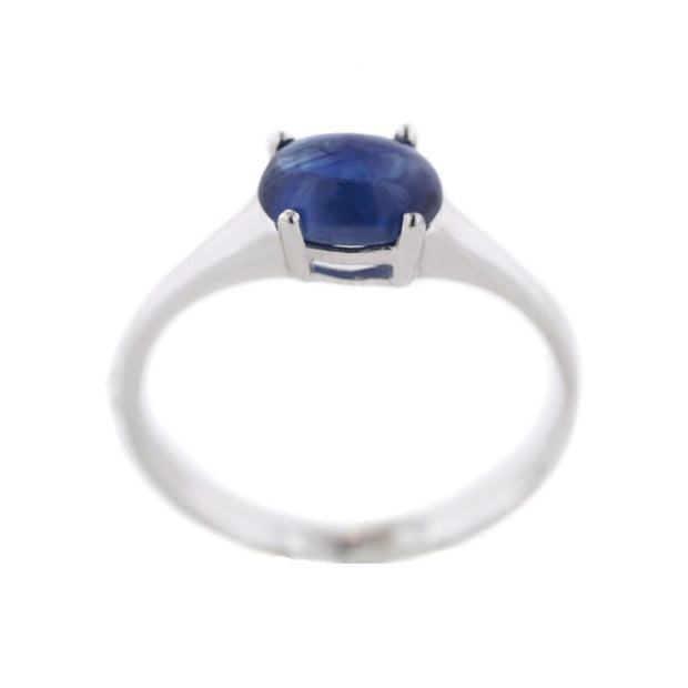 cabochons for sale, cabochon sapphire, sapphire ring, blue sapphire ring, blue sapphire white gold ring, gems and jewels for less, GJFL, unique ring, minimalist ring