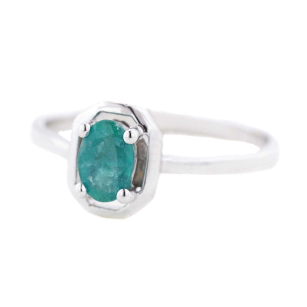 emerald ring, white gold ring, women's ring, woman ring, jewel, emerald, fine jewelry, zales, kay, gift for mom, may birthstone, emerald may birthstone, minimal style ring, real gold, solid gold