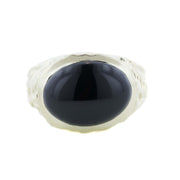 Men's Ring, black onyx, gold over silver, silver ring, black onyx cabochon, heavy stone ring, men's heavy rings, fathers day, unique men's jewelry, fine jewelry, best price, wholesale rings