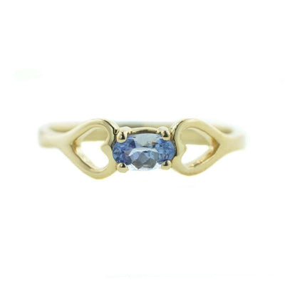 gems and jewels for less, women's ring, woman ring, ring, tanzanite ring, december birthstone, yellow gold ring, gold, fine jewelry, gemstones, heart ring, heart, kay, zales, gift for mom, promise ring, best price, discount jewelry, wholesale jewelry, cheap ring