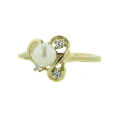 pearl, pearl ring, yellow gold ring, diamond ring, mothers day, gems and jewels for less, jewelsforless, gemstone jewelry, fine jewelry, best price, pearl engagement ring