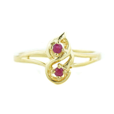 Natural Ruby - 14K Yellow Gold