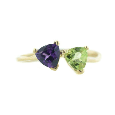 gems and jewels for less, jewelsforless, mothers day, women's ring, woman ring, kay, zales, amethyst ring, peridot ring, 14k yellow gold, february birthstone amethyst, peridot birthstone august, best price jewelry, gift for mom, valentines day, jewellery, natural gemstone