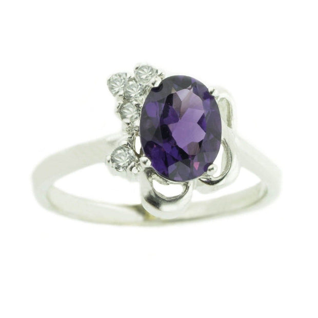 Amethyst Ring - Purple Gemstones