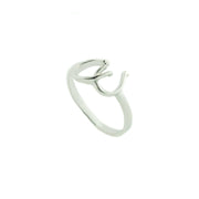 horseshoe ring, interlocking horseshoes, non tarnish silver, no tarnish silver, sterling silver, 925, gjfl, gems and jewels for less, jewelsforless, lucky ring