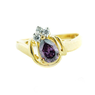 gems and jewels for less, mothers day, jewelsforless, february birthstone, amethyst ring, zales, kay, 14k yellow gold, women's ring, woman ring, ring, best price, royal ring, heavy stone ring,