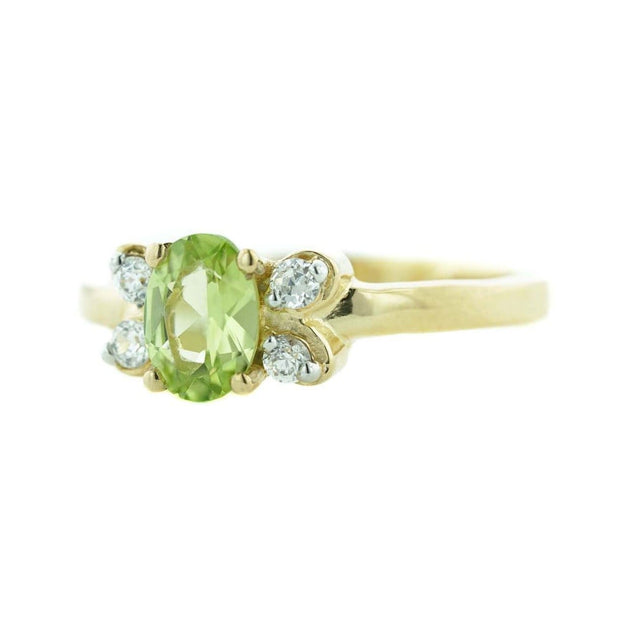 Heavy stone ring, house of gold, peridot ring, peridot august birthstone, august birthstone, 14K yellow gold ring, women's ring, woman ring, jewellery, best price, wholesale jewelry, discount ring, gift for mom, mothers day, gems and jewels for less, pretty peridot ring