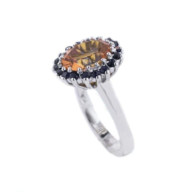 mexican fire opal, fire opal ring, opal ring, sunset fire opal, women's silver ring