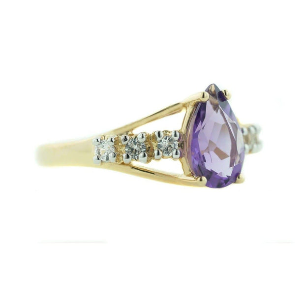 amethyst engagement ring, us jewels and gems, gems and jewels for less, mothers day, amethyst ring, women's ring, woman ring, february birthstone is amethyst, pear shape stone, royal gemstone, purple stone, kay, zales, etsy rings, wholesale jewelry, princess ring, queen ring, gift for mom, promise ring, alternative wedding ring, large amethyst, jewels, heavy stone ring