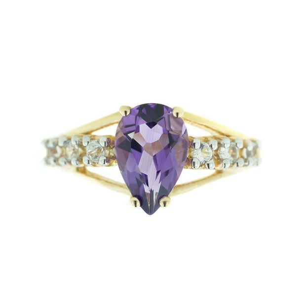 gems and jewels for less, mothers day, amethyst ring, women's ring, woman ring, february birthstone is amethyst, pear shape stone, royal gemstone, purple stone, kay, zales, best price, cheap, wholesale jewelry, princess ring, queen ring, gift for mom, promise ring, alternative wedding ring, large amethyst, jewel, heavy stone ring