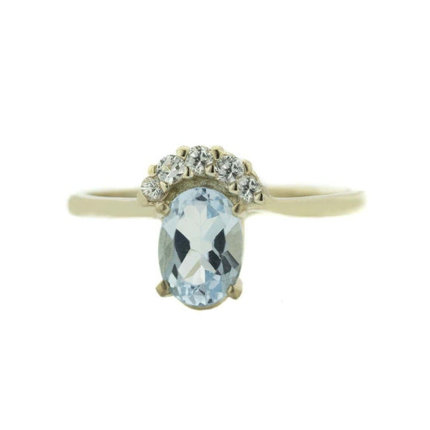 december birthstone, blue topaz ring, halo ring, princess ring, women's ring, regal ring, blue topaz gemstone, gemstone rings, jewelry, jewelry for women, rings, gems and jewels for less, gjfl, jewelsforless