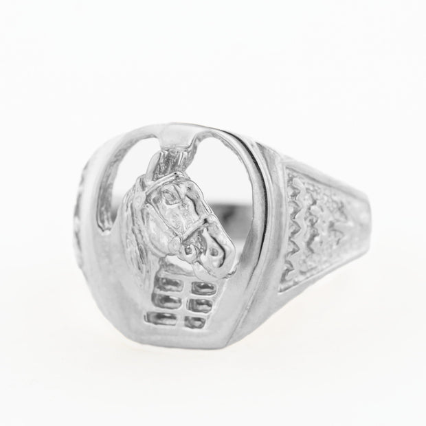 Horse ring, men's ring, equestrian ring, 14K yellow gold men's ring, 14K white gold men's ring, mens horse ring, designer ring, white gold Horse ring, Men' white gold, Sterling Silver, Sterling Silver Men's ring