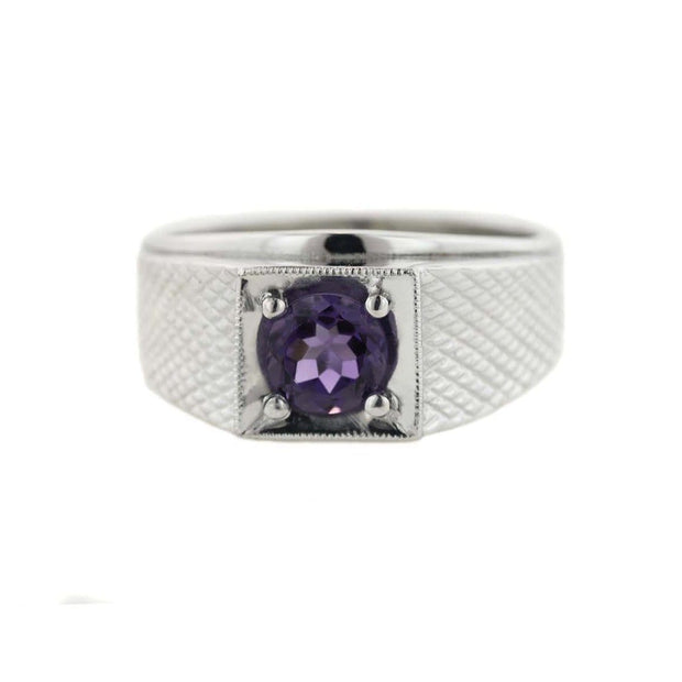 february birthstone, men's amethyst ring, amethyst ring, men's silver amethyst ring, platinum over silver, gemstone, jewelry, jewelry jewelry jewelry, gems and jewels for less, jewelsforless, gjfl, father's day