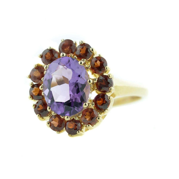 garnet and amethyst ring, gjfl, us jewels and gems, etsy rings, gems and jewels for less, jewelsforless, mothers day, garnet, amethyst, january birthstone, february birthstone, gold jewelry, fine gold, best price, women's rings