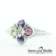 amethyst ring, garnet ring, peridot ring, amethyst garnet ring, amethyst peridot ring, birthstone ring, gems and jewels,