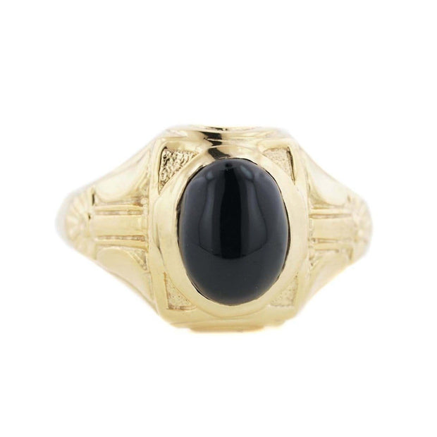 deco, deco style ring, men's ring, men s ring, gents ring, onyx ring, men's onyx ring, silver ring, gold ring, fashion ring, mondern ring, modern men's ring, gems and jewels for less, jewelsforless, men's black onyx ring, best price, wholesale jewelry, father's day, minimalist