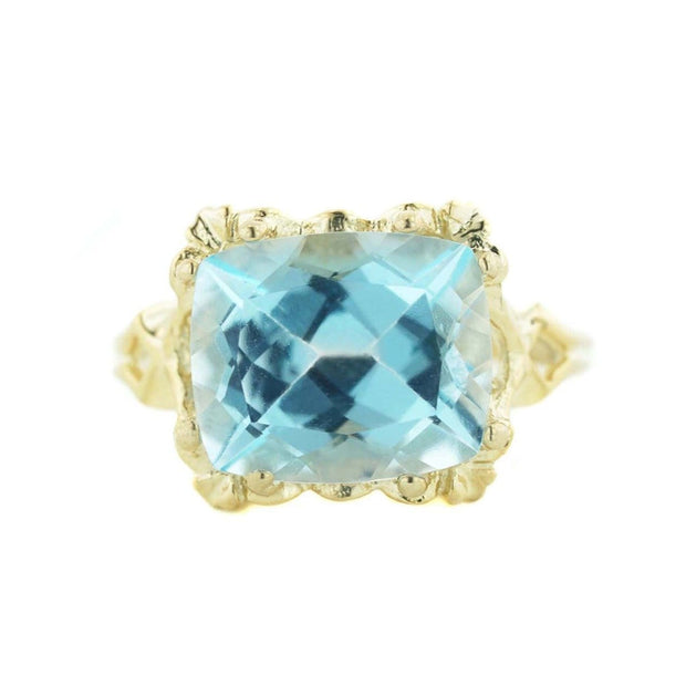 gems and jewels for less, jewelsforless, women's ring, heavy stone ring, women's ring, women's blue topaz ring, yellow gold ring, 14k jewelry, cushion cut gemstone, 8 carat gemstone, huge gemstone, 12x10 gemstone, real gold, solid gold, yellow gold, designer ring, natural gemstone, gift for mom, kay, zales, best price, jewellry, jewel, jewels and gems, cheap jewelry