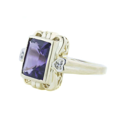 february birthstone, amethyst, amethyst ring, solid gold ring, heavy stone ring, gold, fine jewelry, best price, investment jewelry, heart, love, large stone, gemstone jewelry, mothers day, gems and jewels for less, jewelsforless, best price