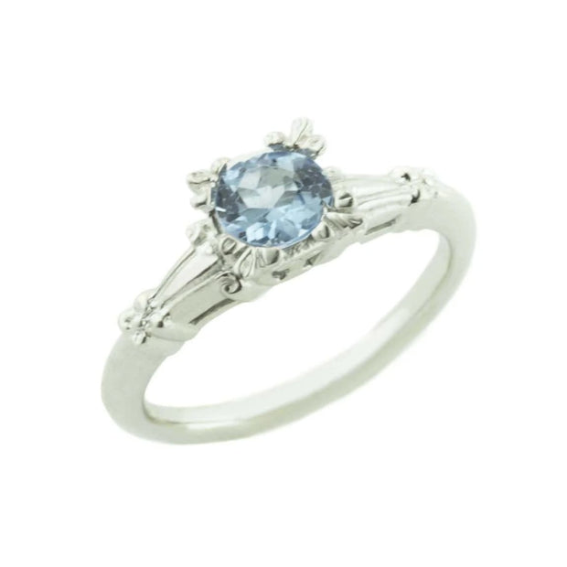 engagement ring, alternative engagement ring, blue topaz, blue topaz ring, december birthstone, blue topaz white gold, women's ring, women's blue topaz ring, floral ring, flower ring, mother's day, gems and jewels for less, jewelsforless, gjfl